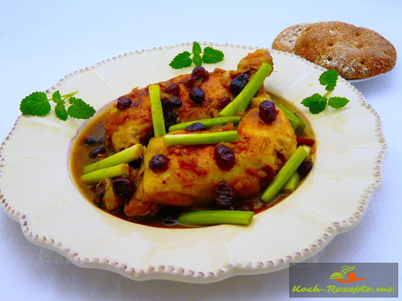 Fertiges marokkanische Hähnchen