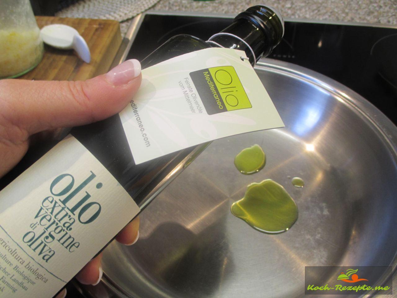 Das Angus Roastfeef vom Rind  in Olivenöl anbraten