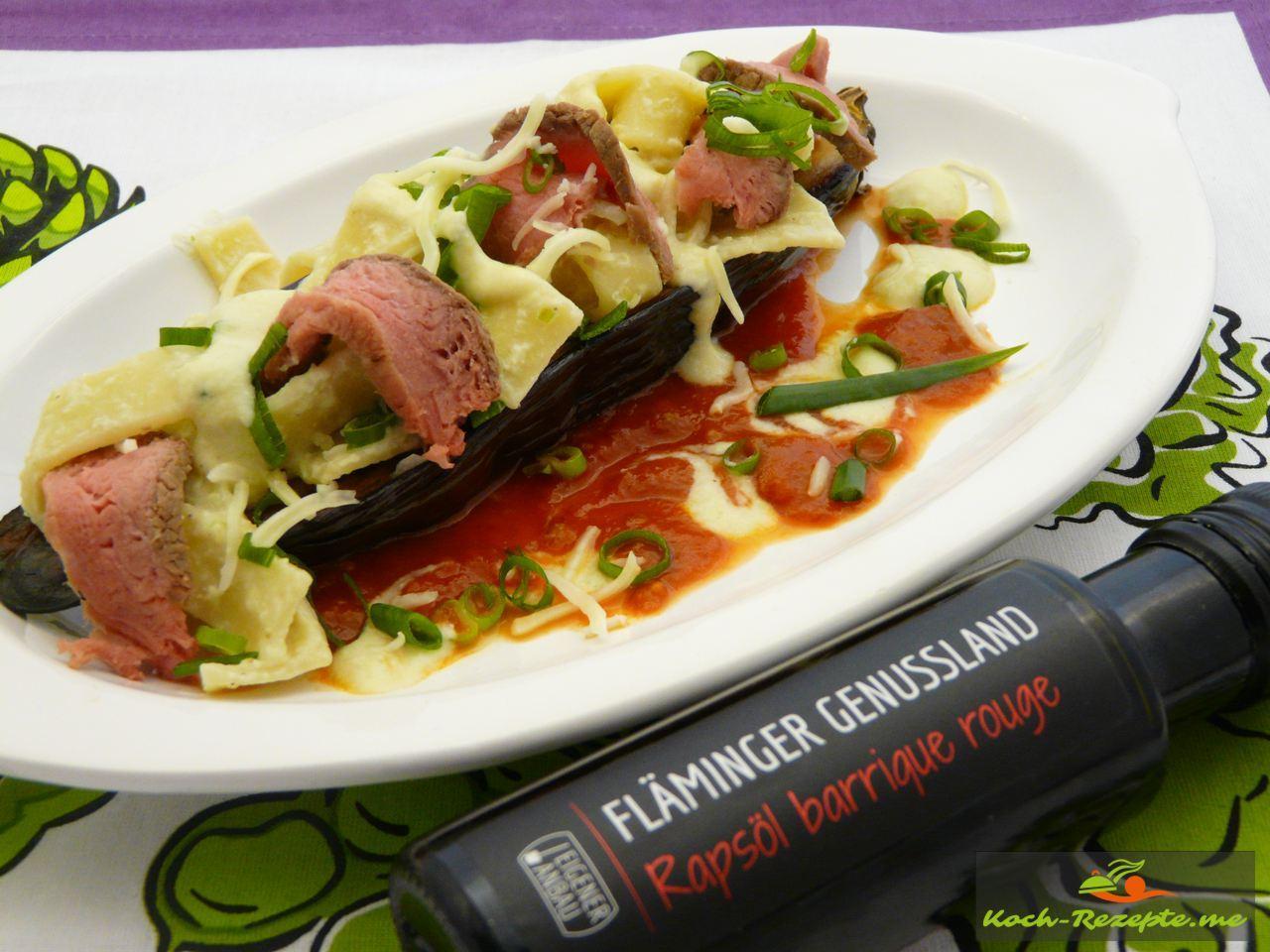 Für die Tomatensauce pikant würzen etwas Rapsöl Fläminger Genussland unterheben