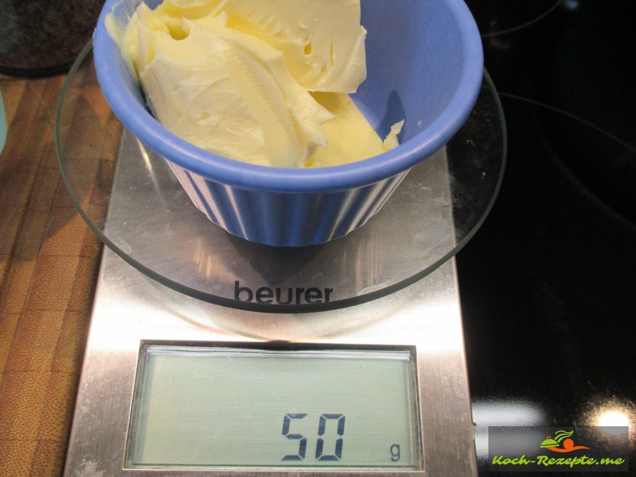 Butter in der Mikrowelle flüßig machen