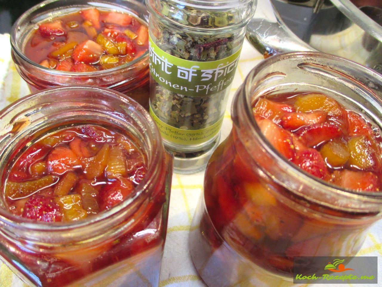 Würzige Marmelade köstlich im Geschmack Zitronen-Pfeffer von Spirit of Spice