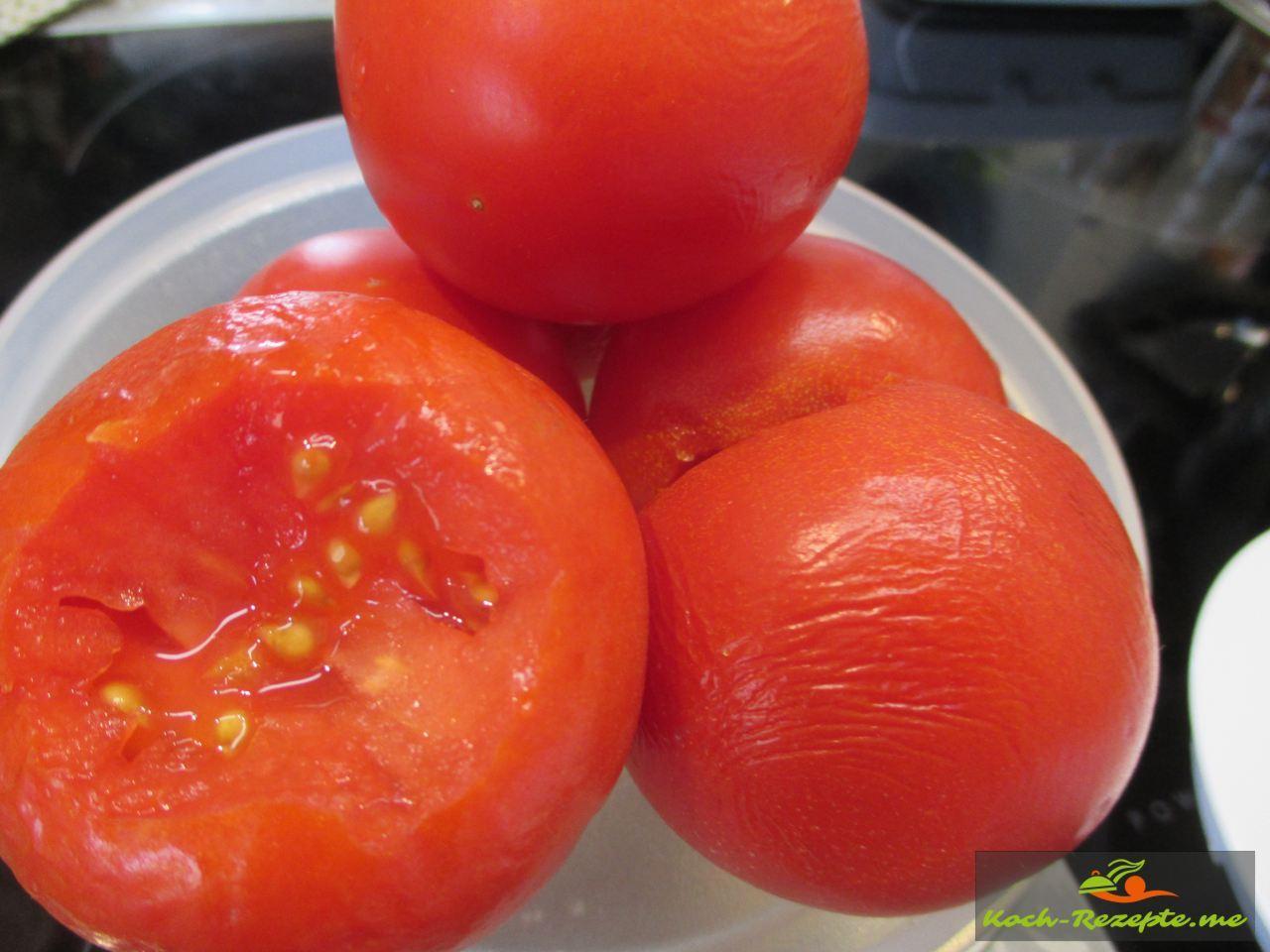 Reife Tomaten für die Tomatenmarmelade