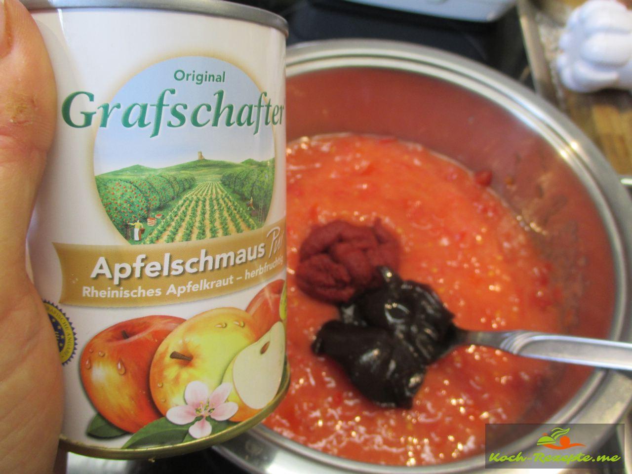 Mit Apfelschmaus von Grafschafter für die Tomatenmarmelade