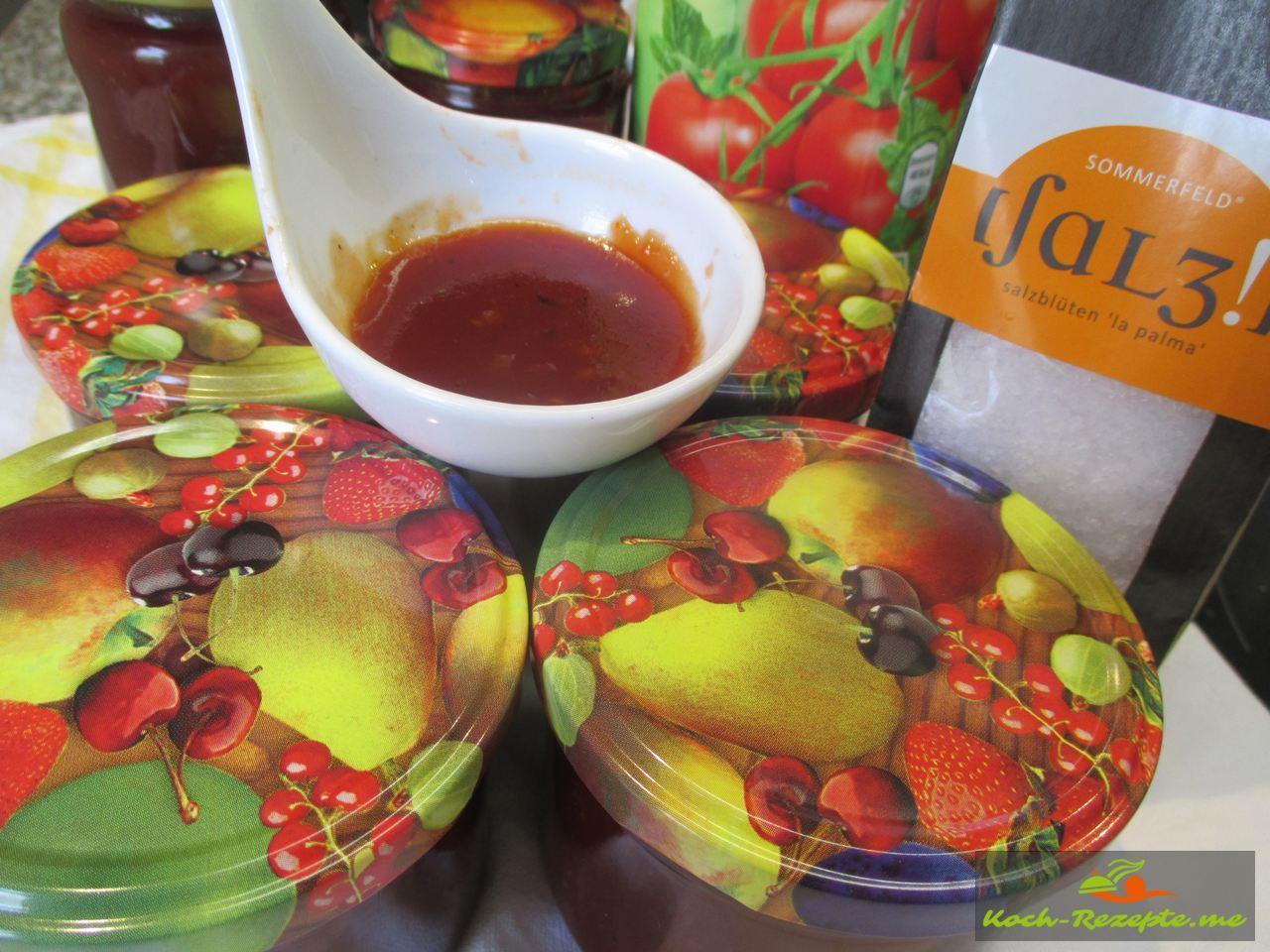 ich nehmen Sommerfeld Meersalz für die Tomatenmarmelade