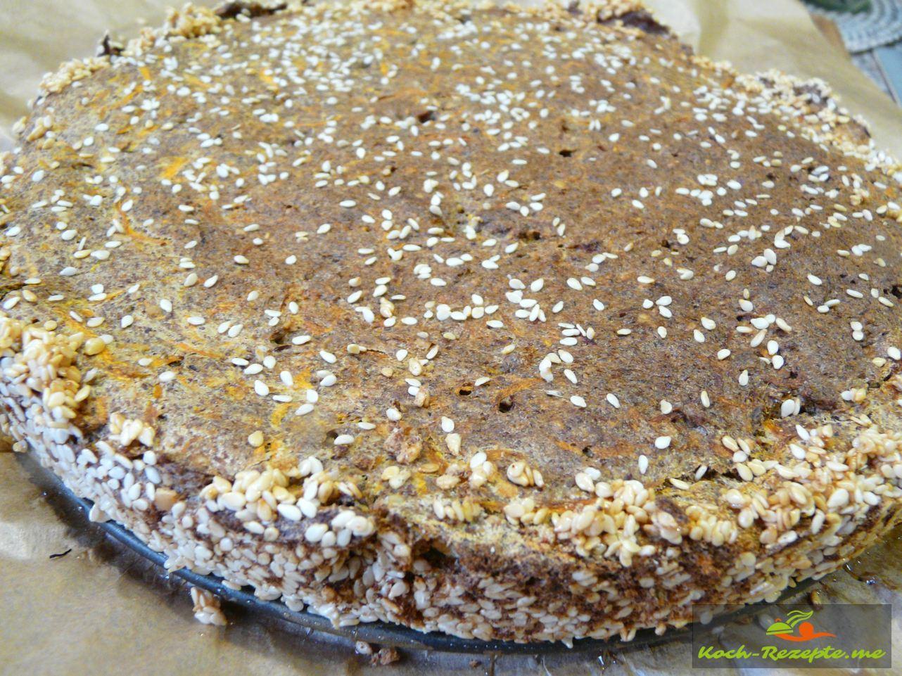 Fertiger Low Carb Möhrenkuchen