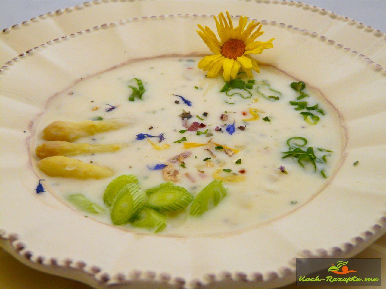 Spargel-Schrebergarten Suppe