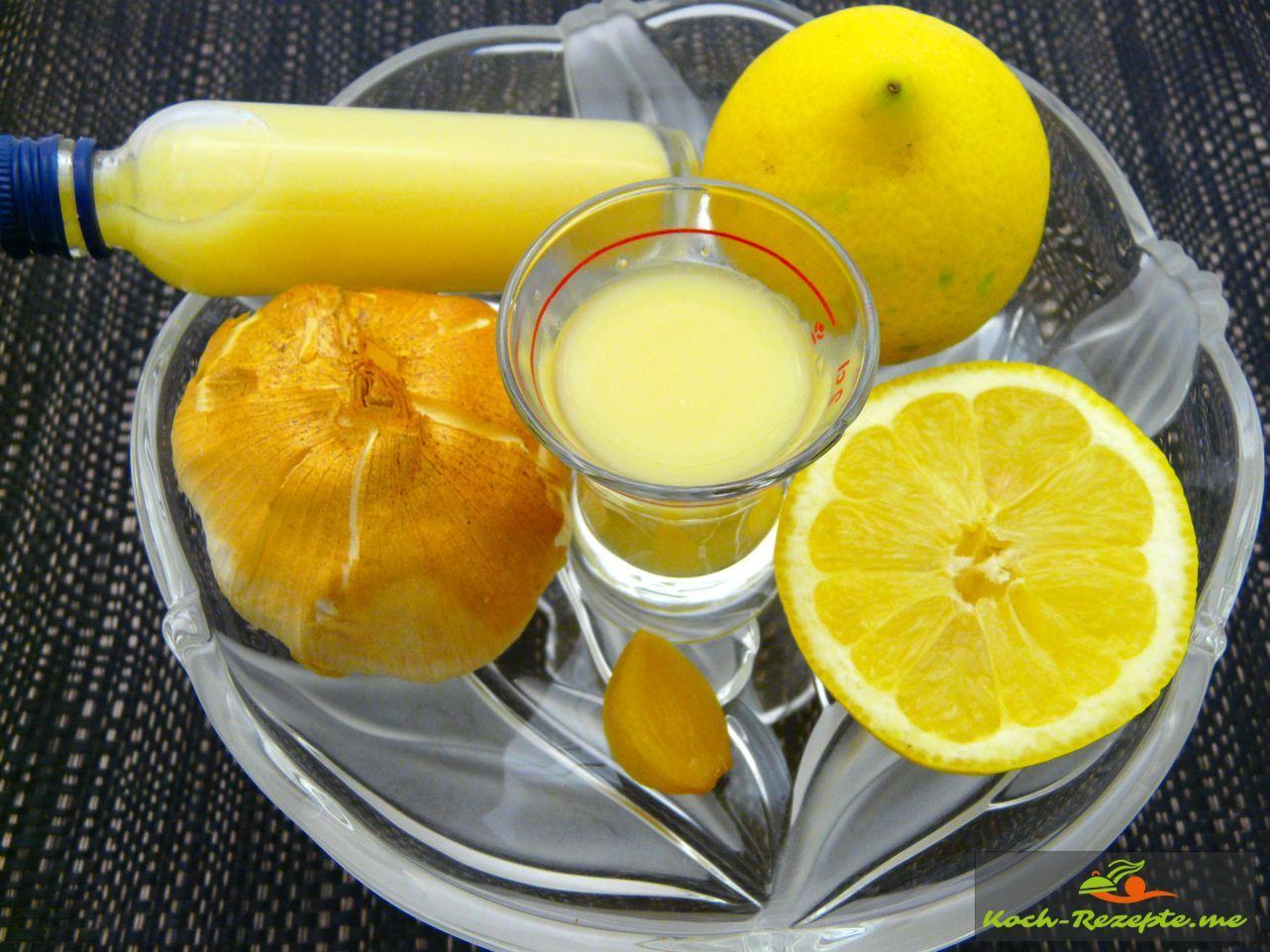 Räucherknoblauch-Zitronen-Kur