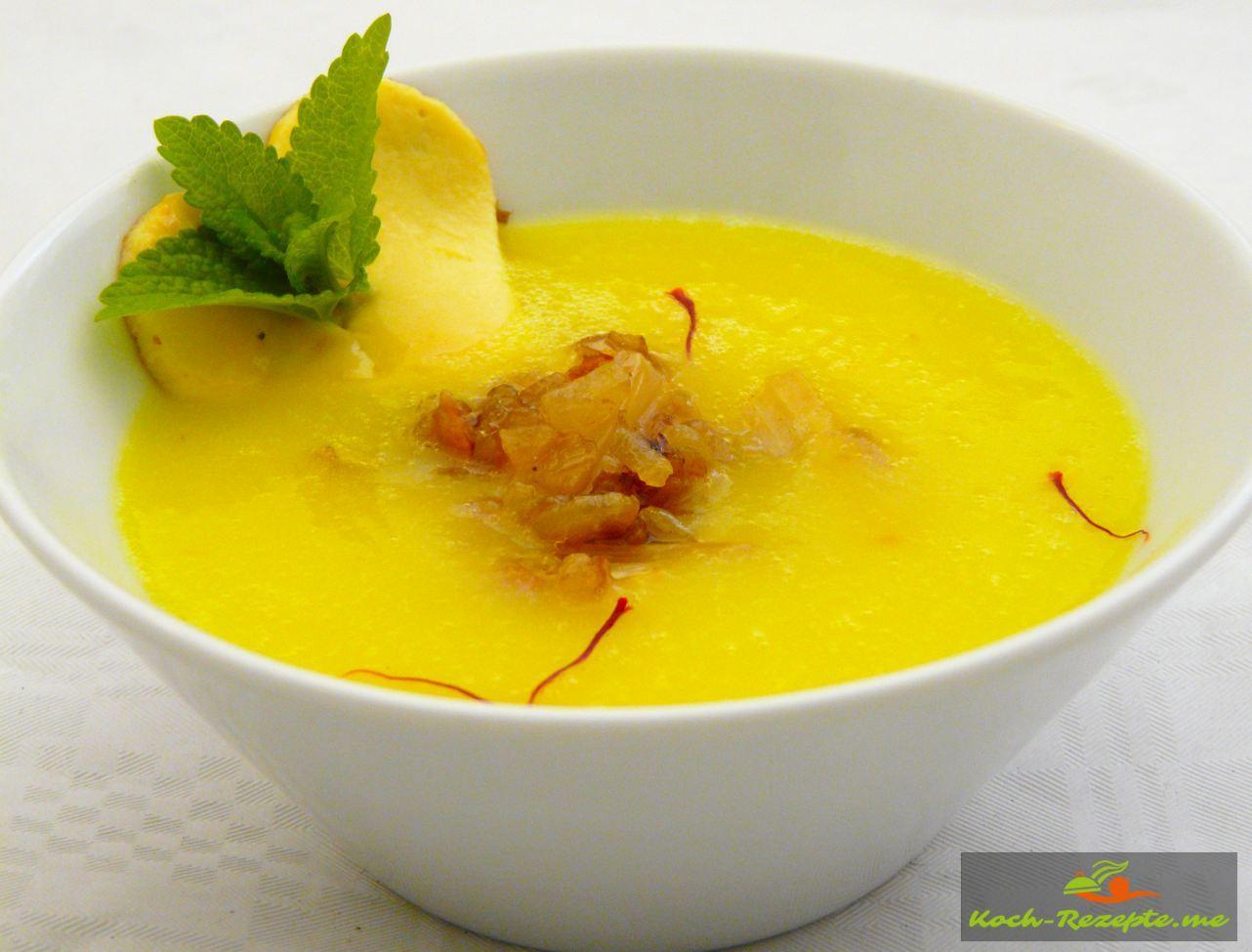 Kartoffel-Spargel-Safran Suppe