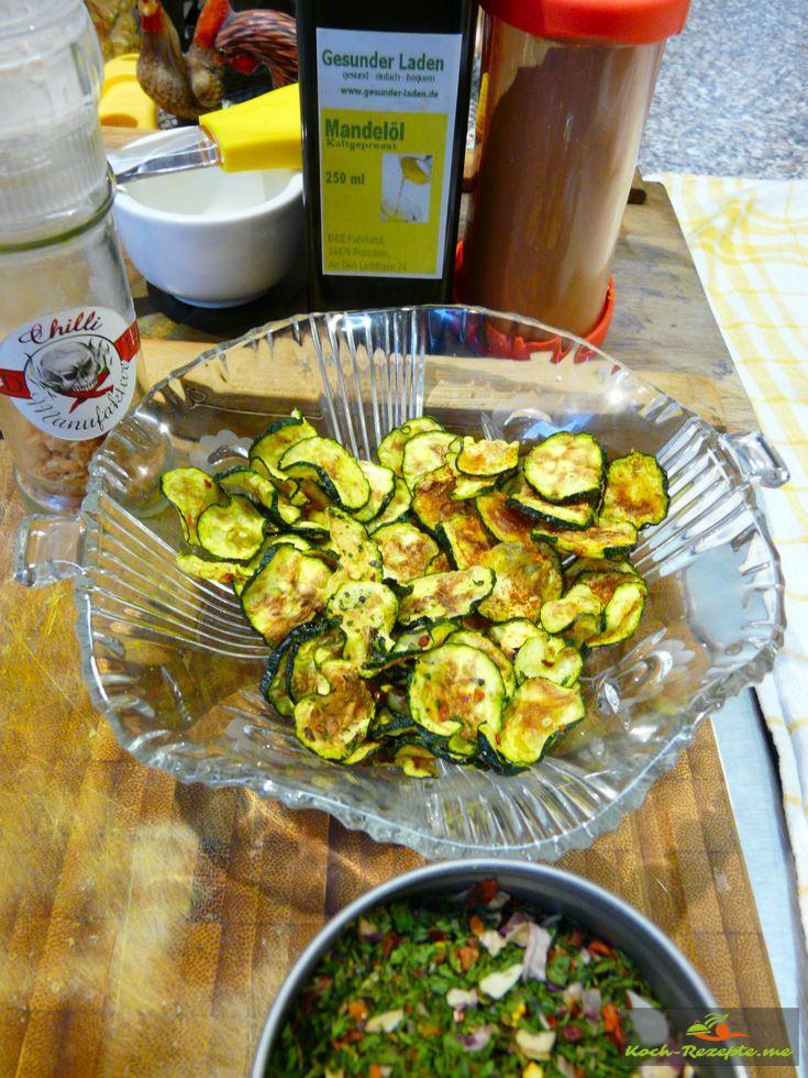 Zucchini-Chips Low Carb Mikrowellen Rezept