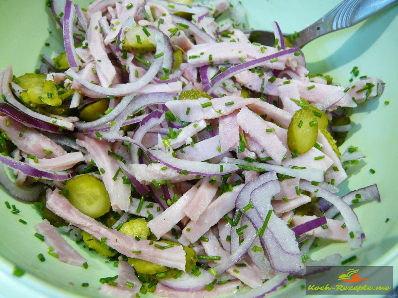 bayrischer Wurstsalat abschmecken