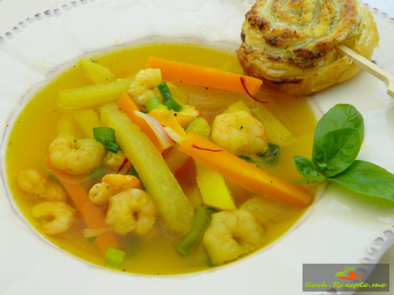 Kohlrabi Safran Suppe