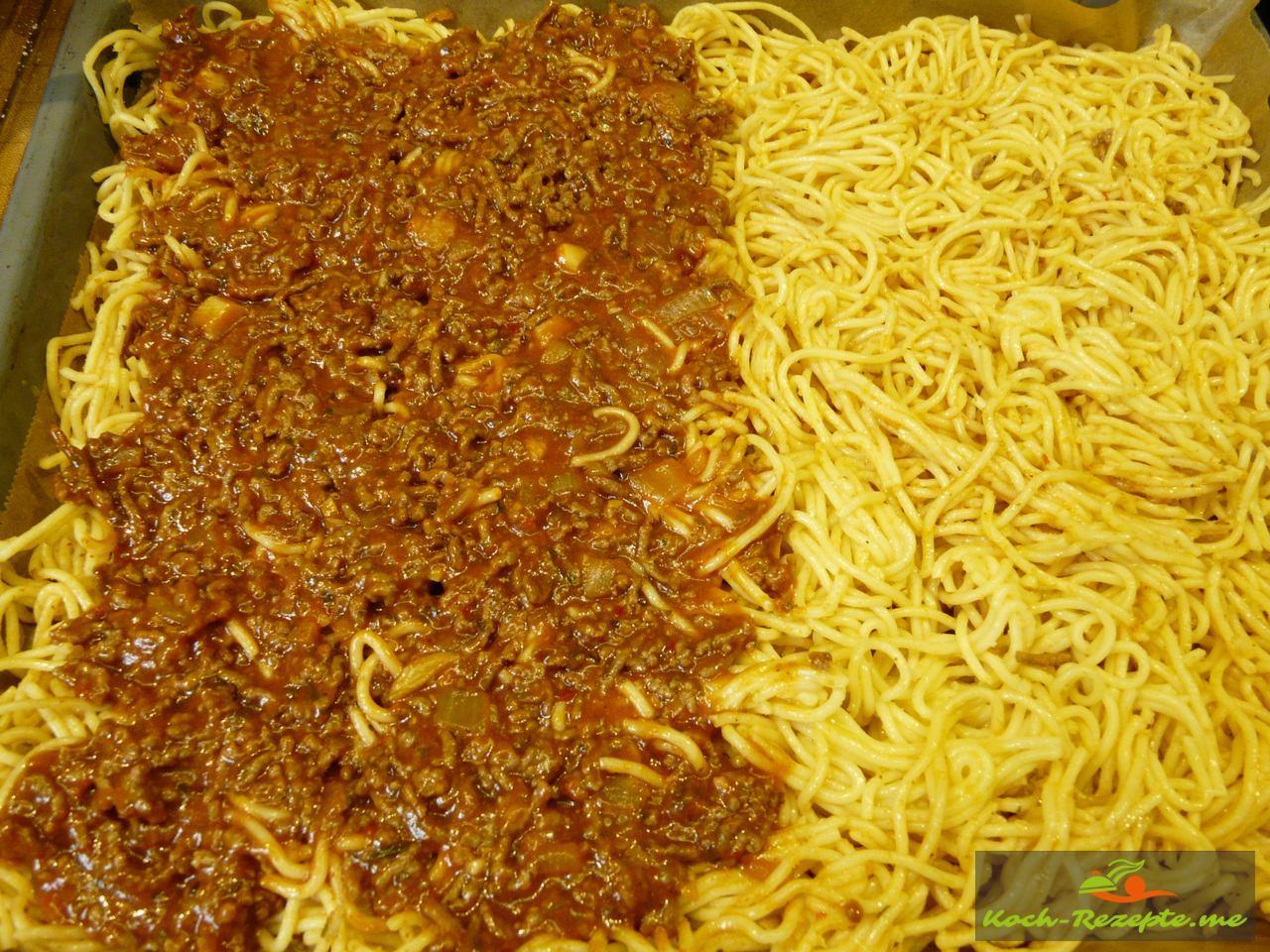 Spaghetti Pizza Bolognese
