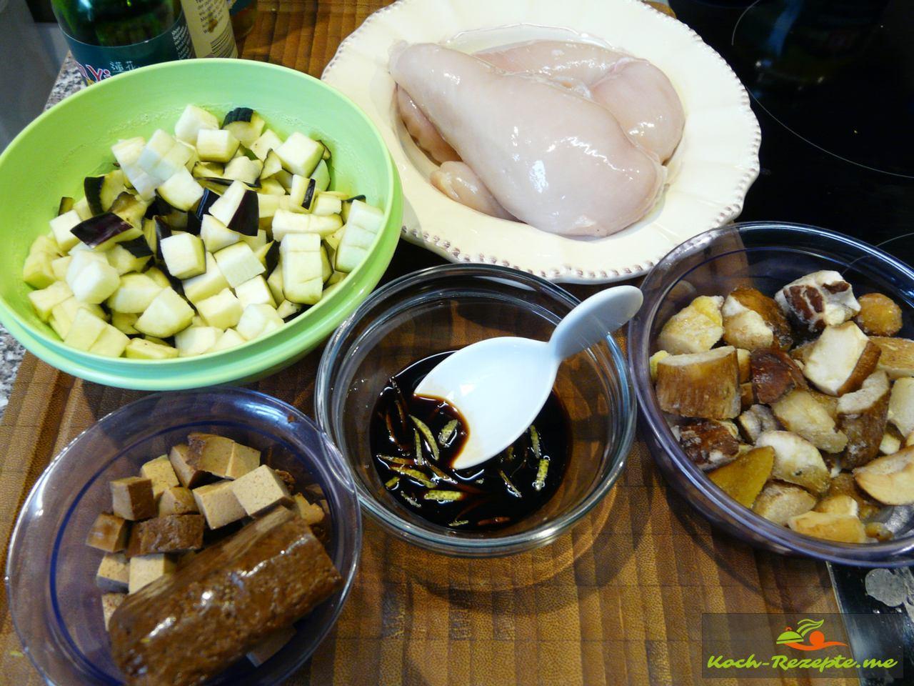 Vorarbeiten erledigen fürs  Wakadori-Hähnchen