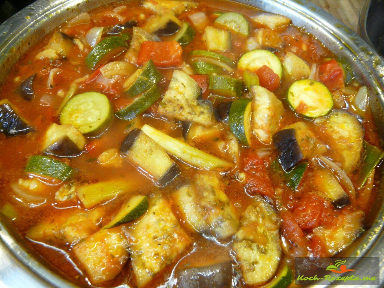 Ratatouille köstliches mediterranes Rezept