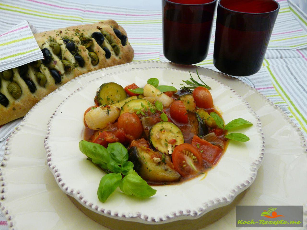 Frankreichs gute Küche Ratatouille köstliches mediterranes Rezept.