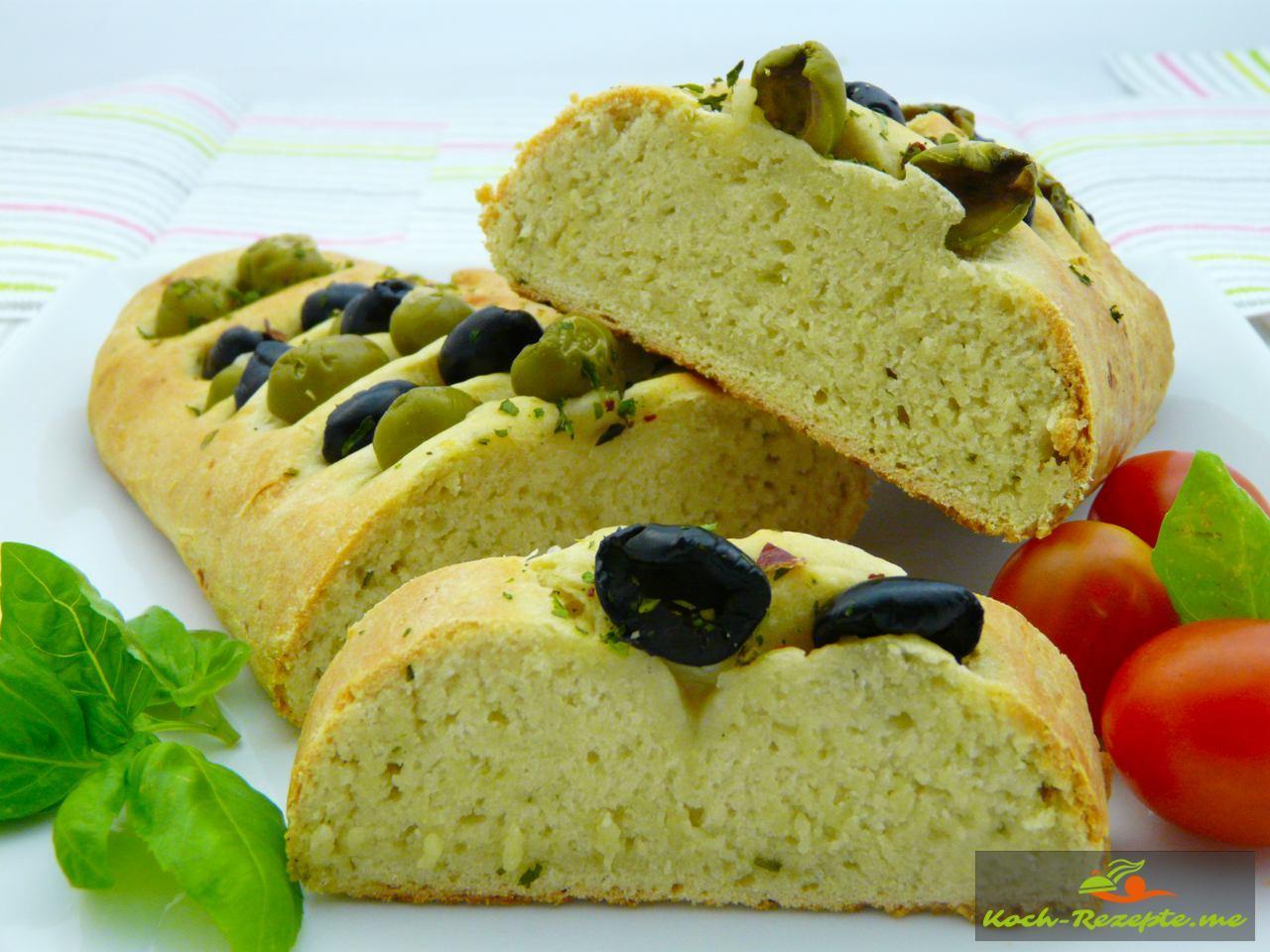 Focaccia Brot herzhaft zur Ratatouille