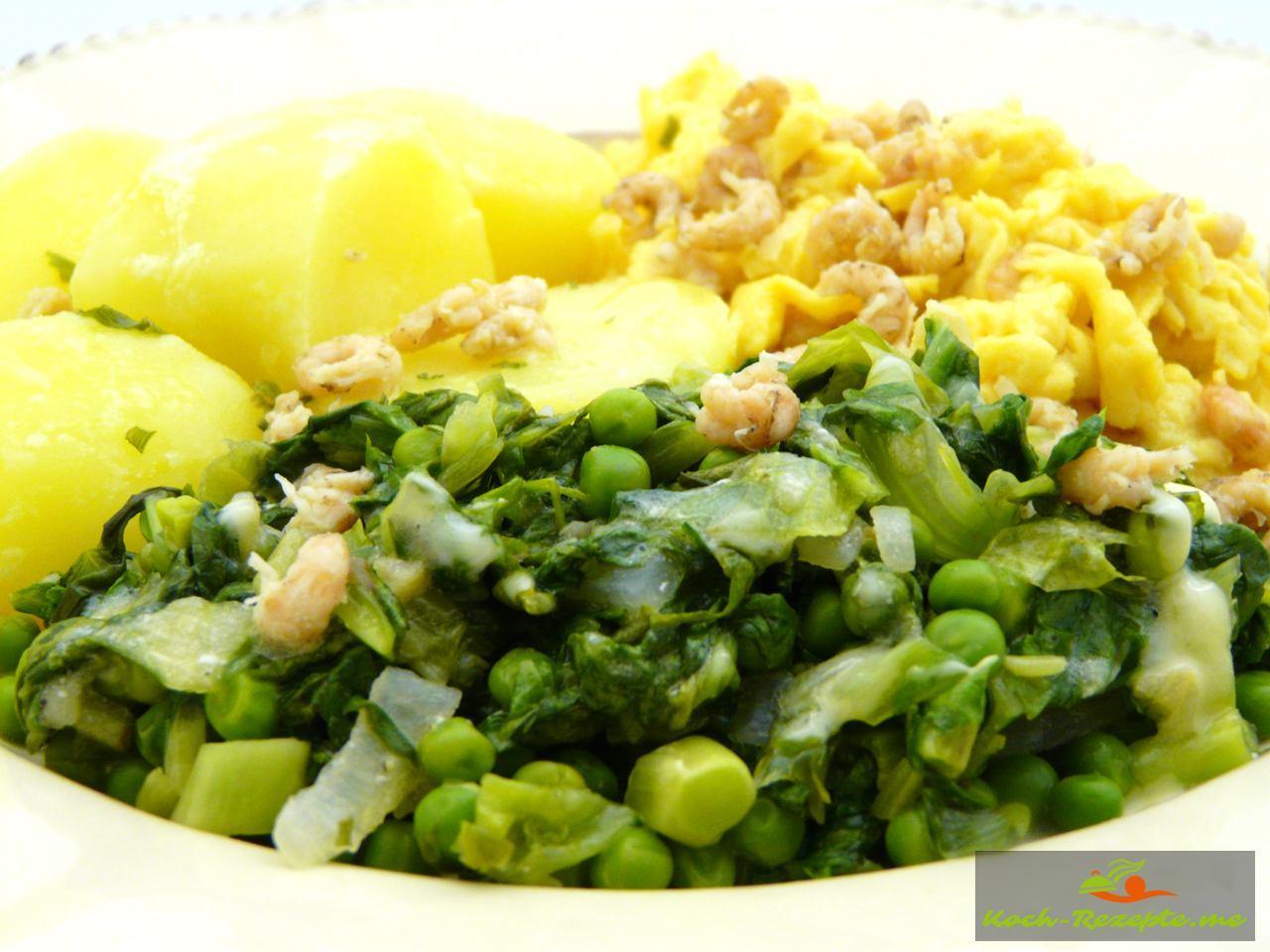 Rezept Kochsalat mit Erbsen