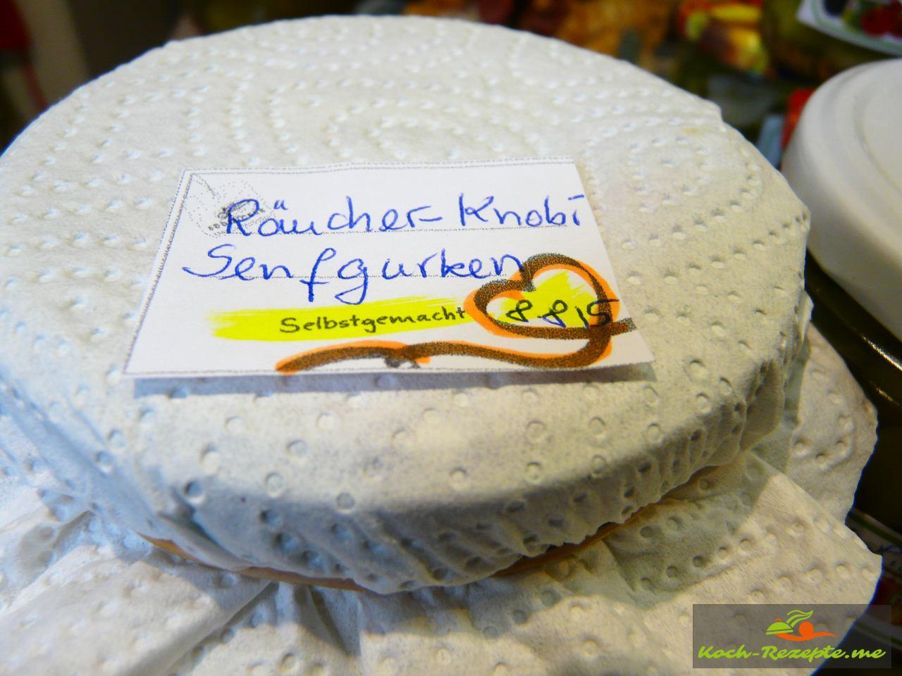 Räucher-Knoblauch-Senfgurken