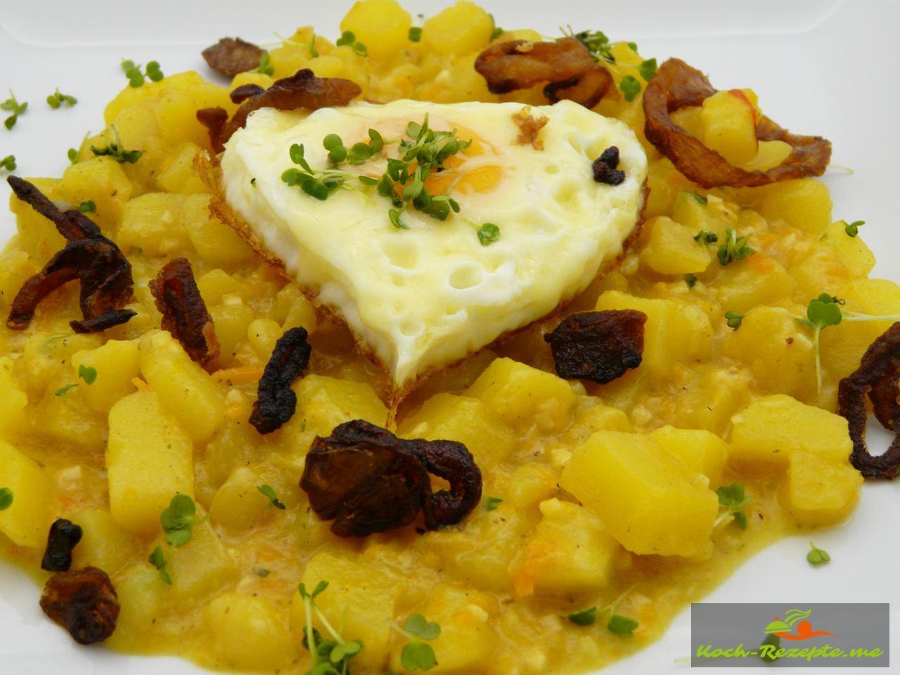 Kartoffelrisotto Rezept mit Safranfäden und Räucher-Knoblauch