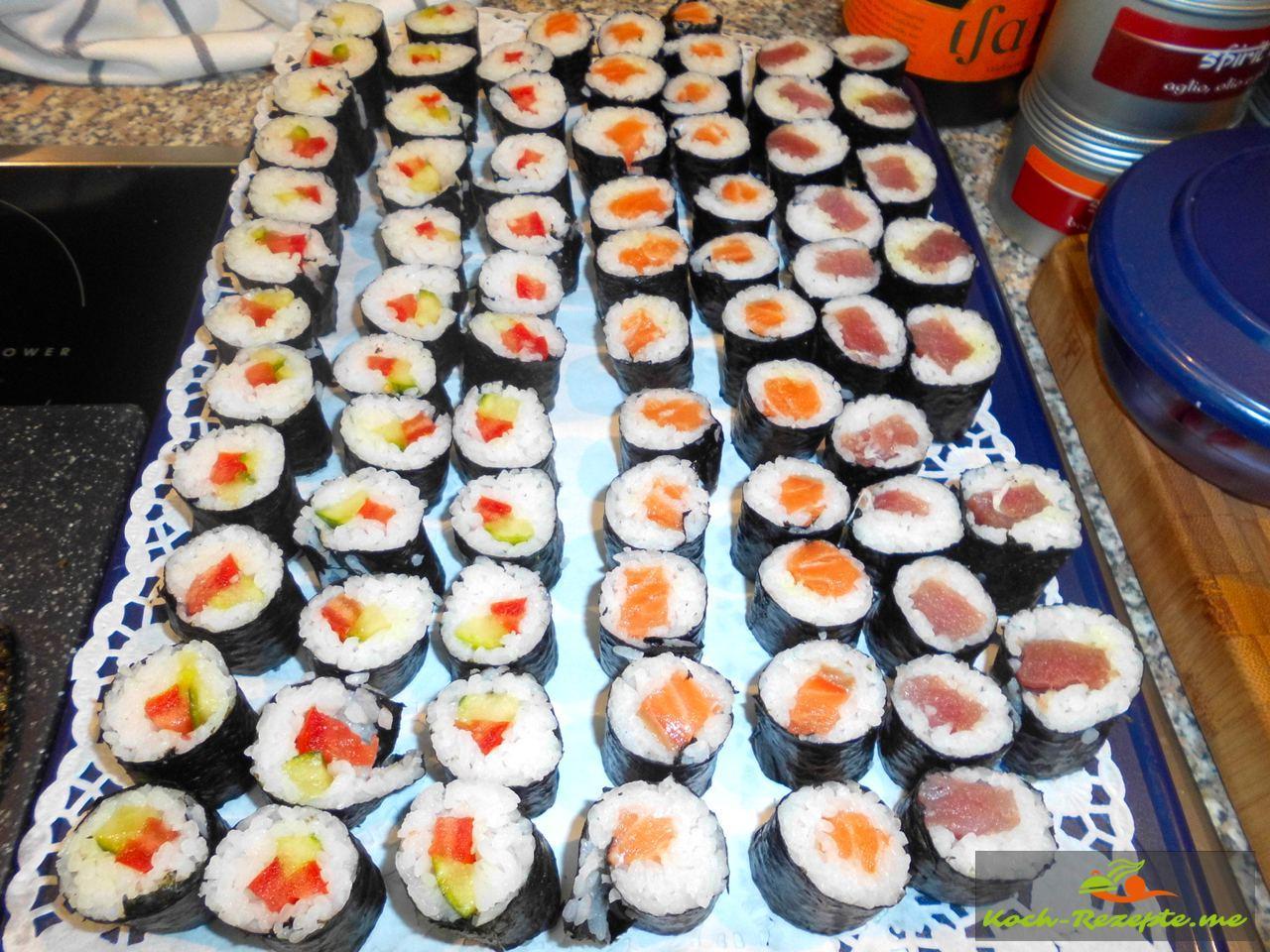 Fertig sind die Sushi Maki
