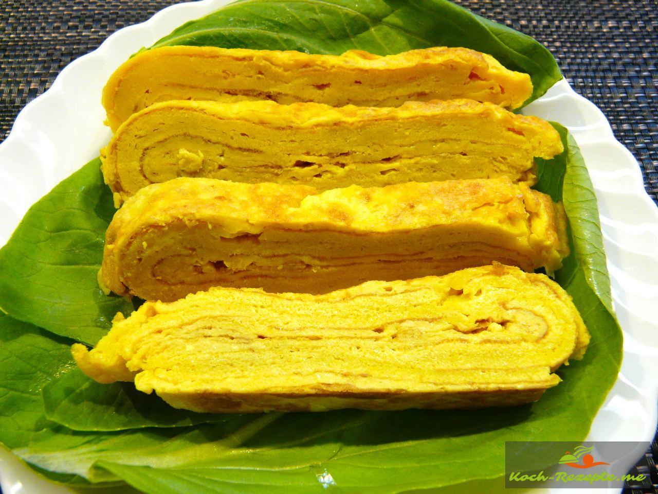 Tamagoyaki Japanisches Omelette