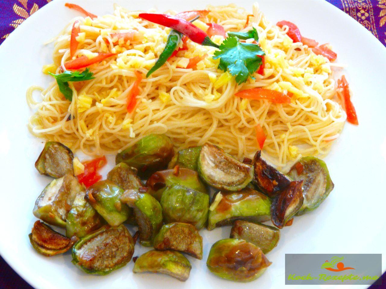Knoblauch-Chili Spaghetti