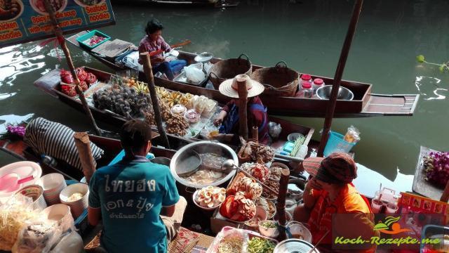 Sehenswürdigkeit Floating Market Bangkok