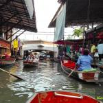 Touristenattraktion Floating Market Bangkok