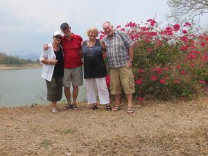 Reni,Horst,Monika und Werner am Stausee