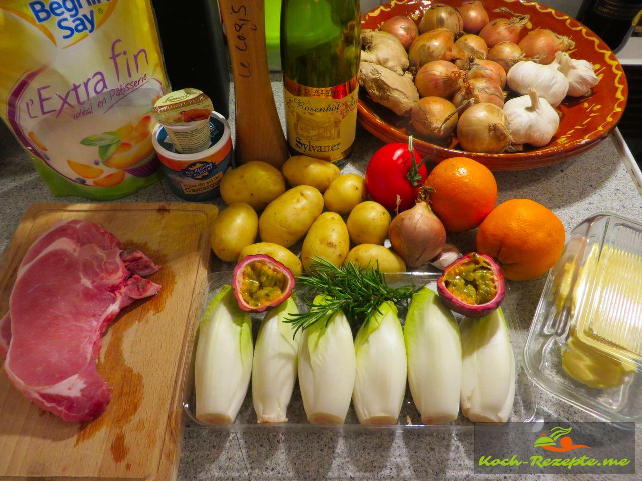 Geschmorte Endivie Rezept französisch, auch als Chicorée bekannt.