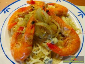 20160507_Spaghetti, Blauschimmelsauce , Garnelen _0001