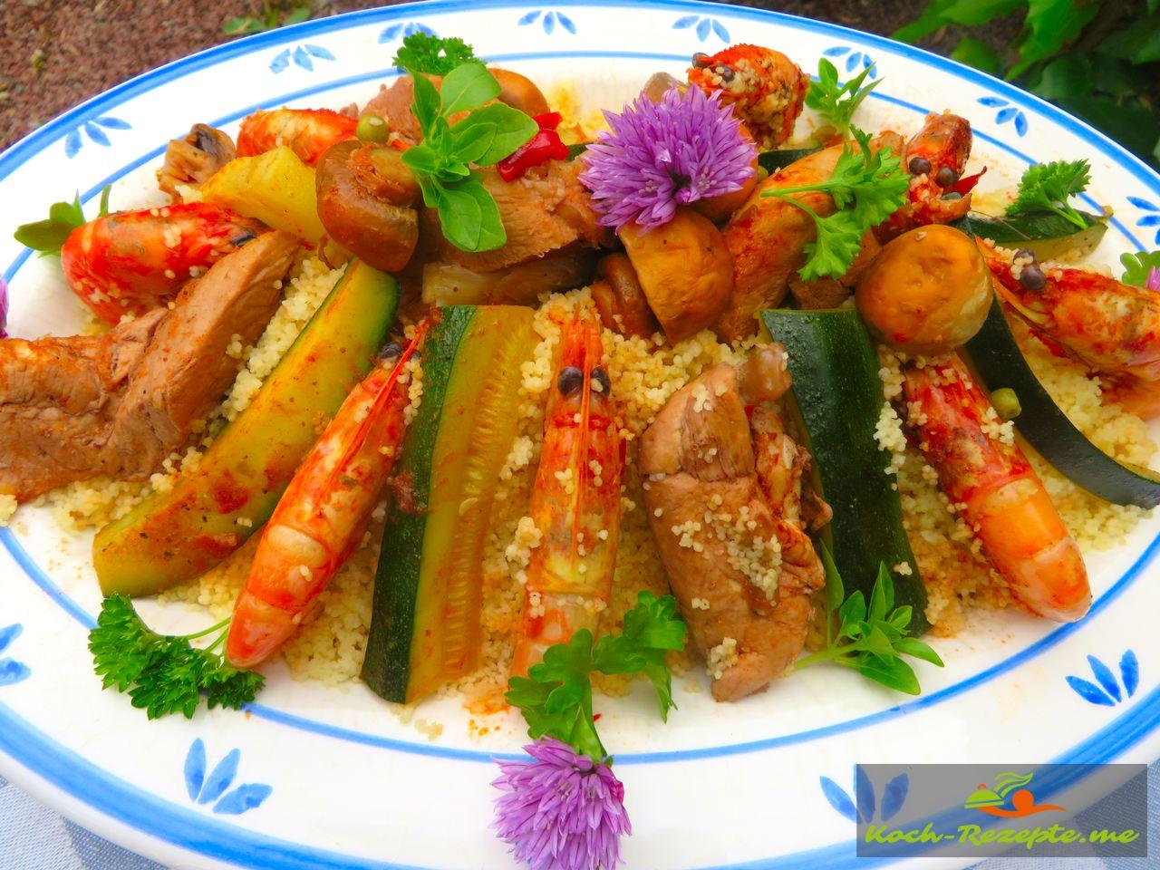 Rezept Couscous Huhn Garnelen