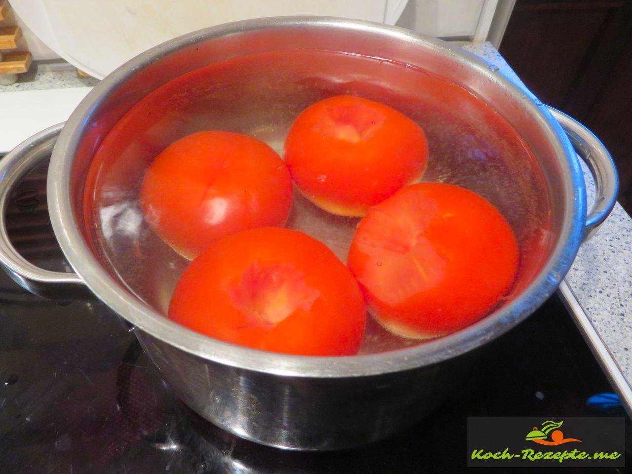 Blanchieren der Tomaten