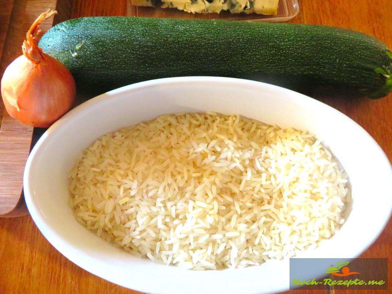 Reis  Risotto-Zucchini