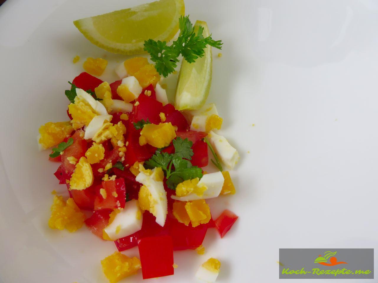 Salat Tomaten und Ei