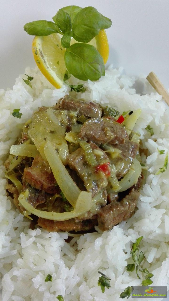 Schweinefleisch Rezept mit Ingwer Sauce