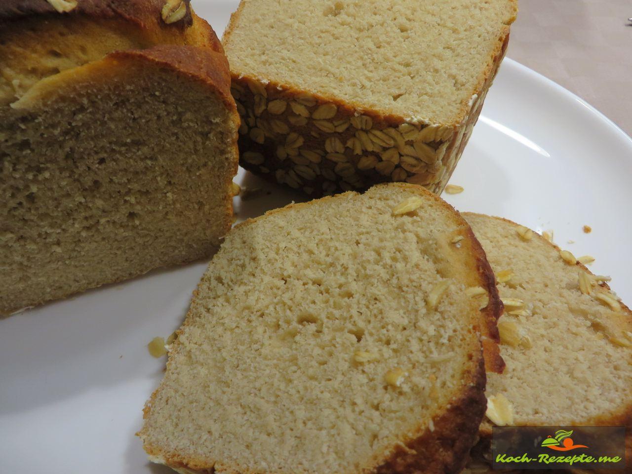 Dinkelbrot Rezept mit Trockenhefe, Apfelmus als Zuckerersatz und Quark.
