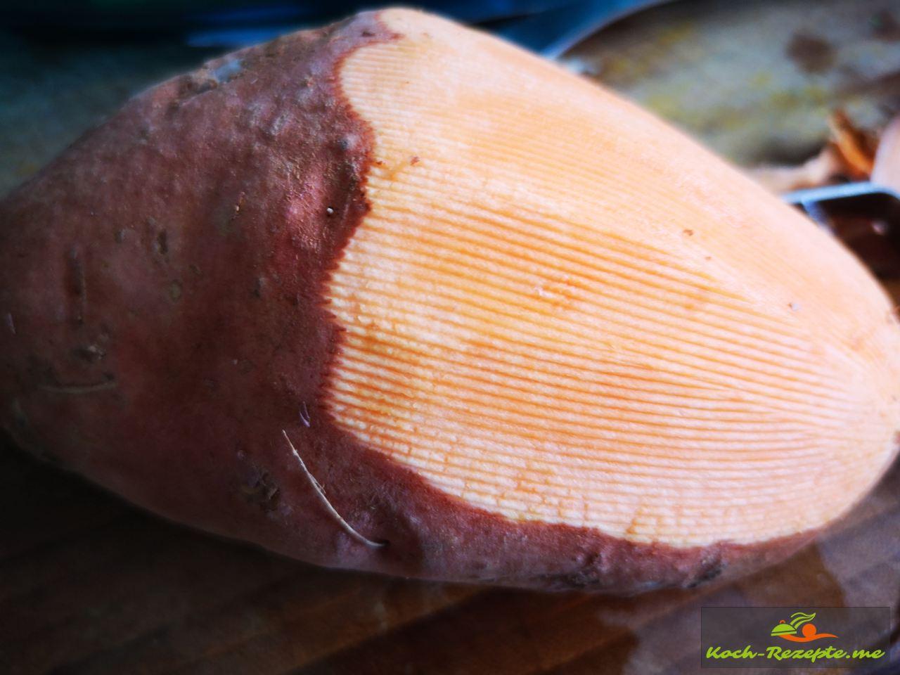 Rotschalige Sorte Süßkartoffel Zubereitung