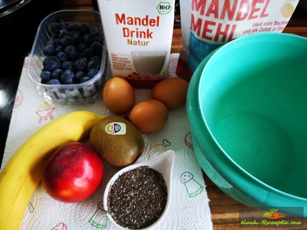 Low Carb Pfannkuchen Zutaten