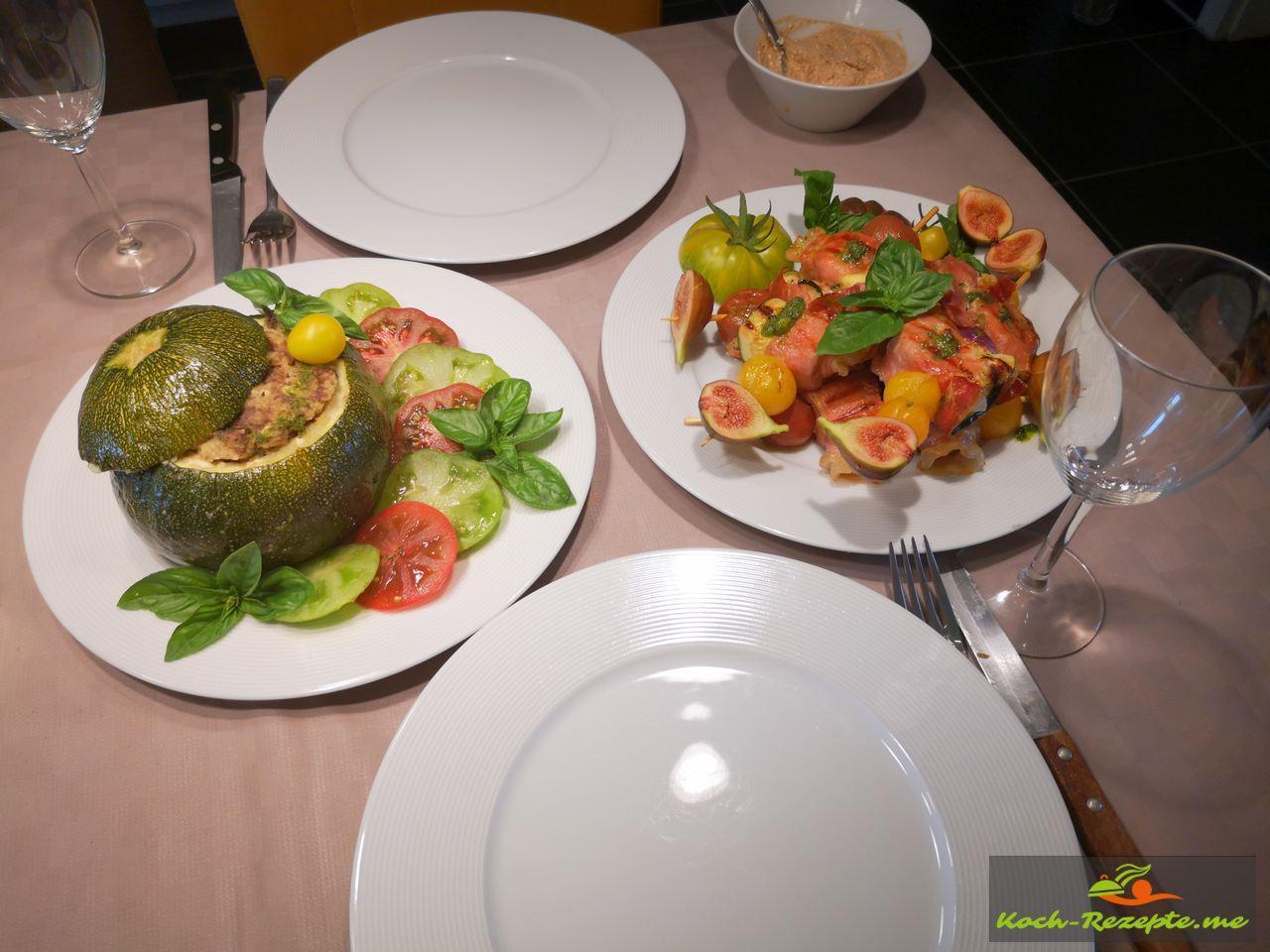 Guten Appetit mit Fertige Schinken-Zucchini-Käse Päckchen