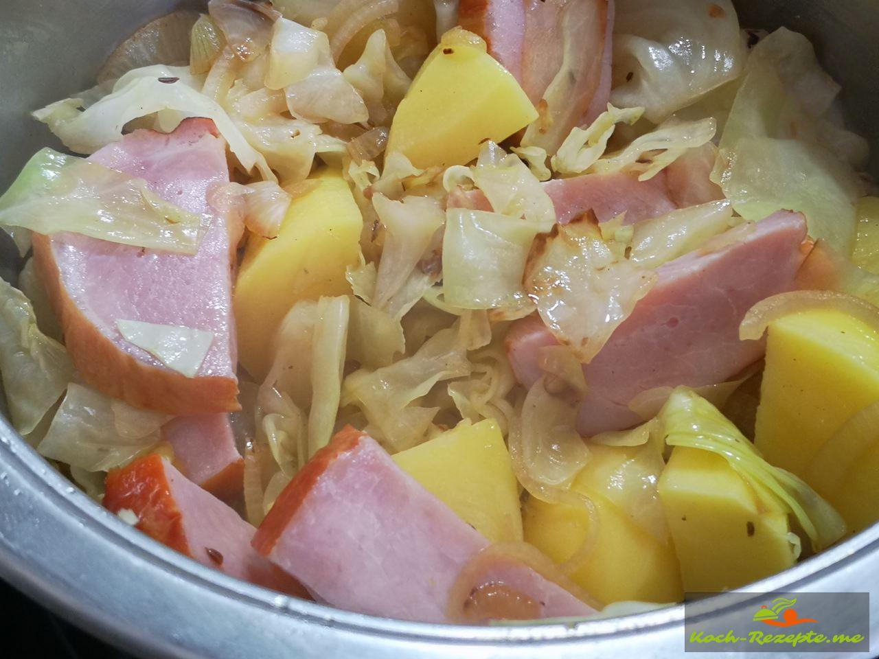 nach 40 Minuten kommt für 5 Minuten die Zucchini dazu