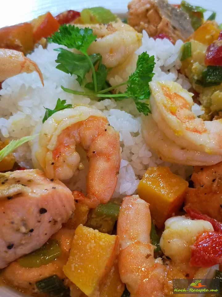 Fisch-Kürbis-Curry
