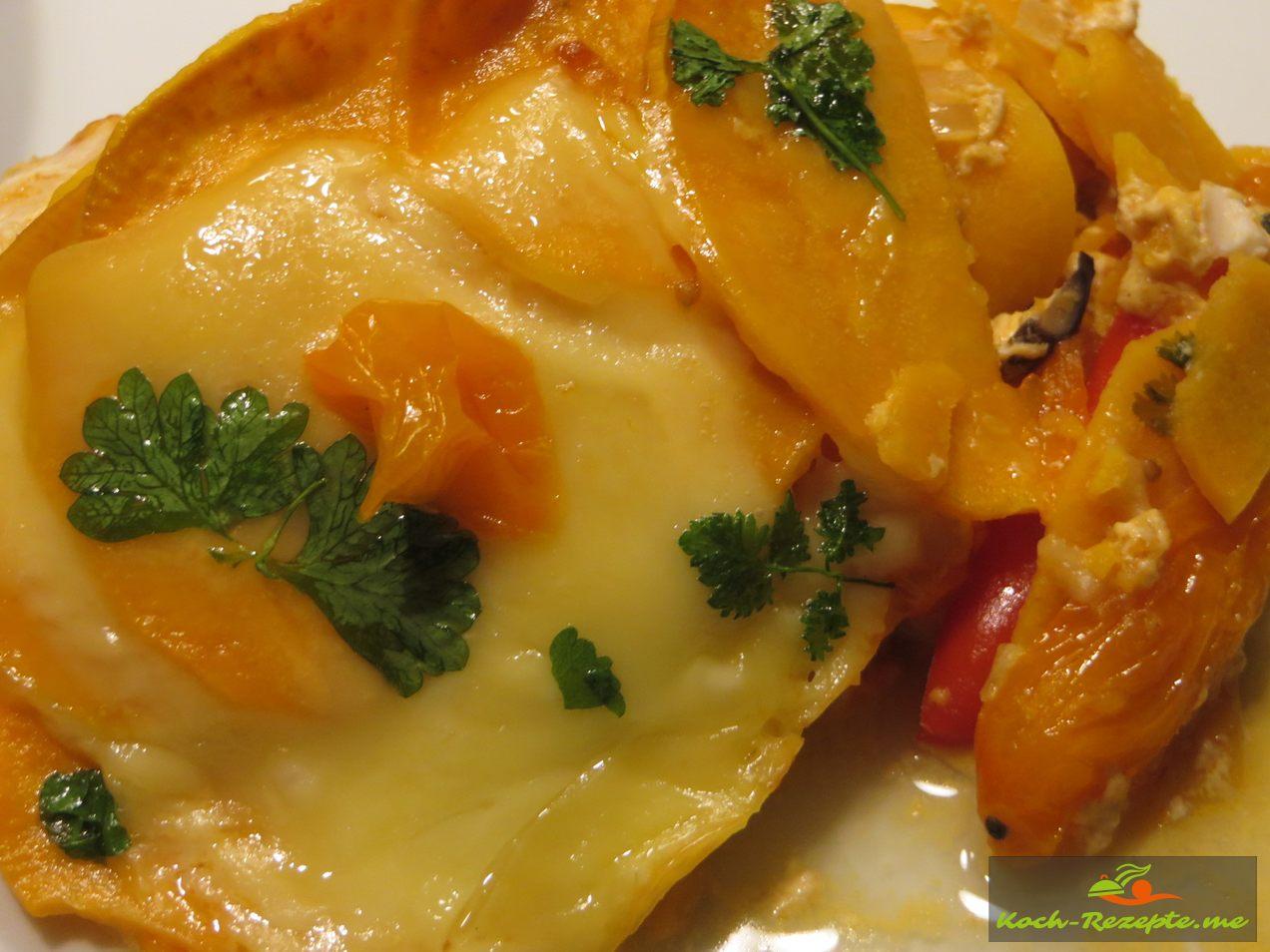 Süßkartoffel-Hähnchen Auflauf
