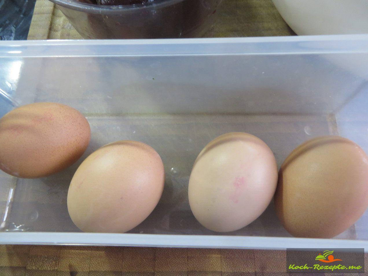 Eier Hart gekocht