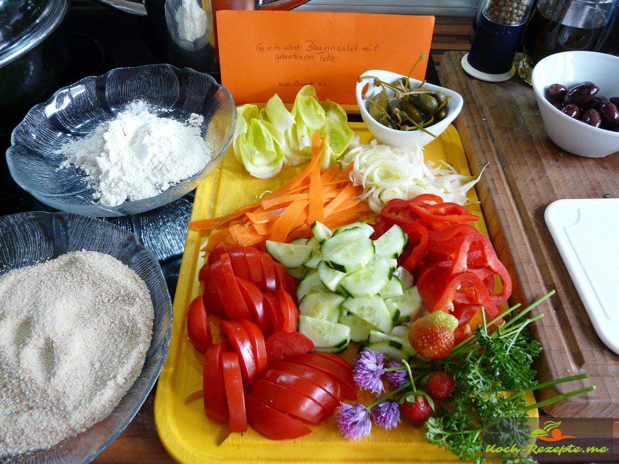 Zutaten für einen Bauernsalat