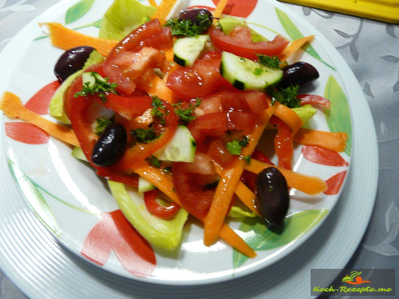 schichten vom Salat