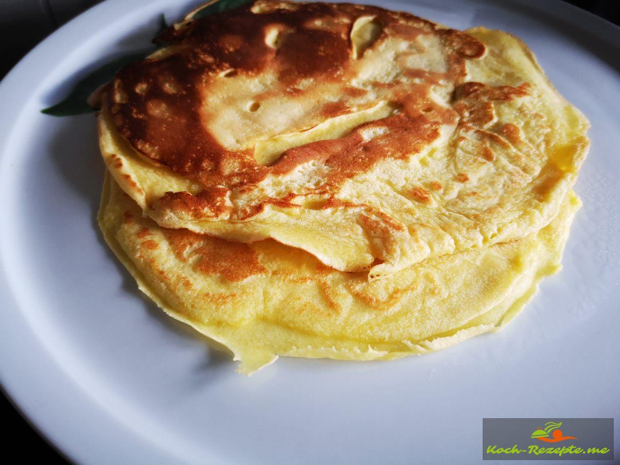 Eierpfannkuchen schön dünn ausgebacken
