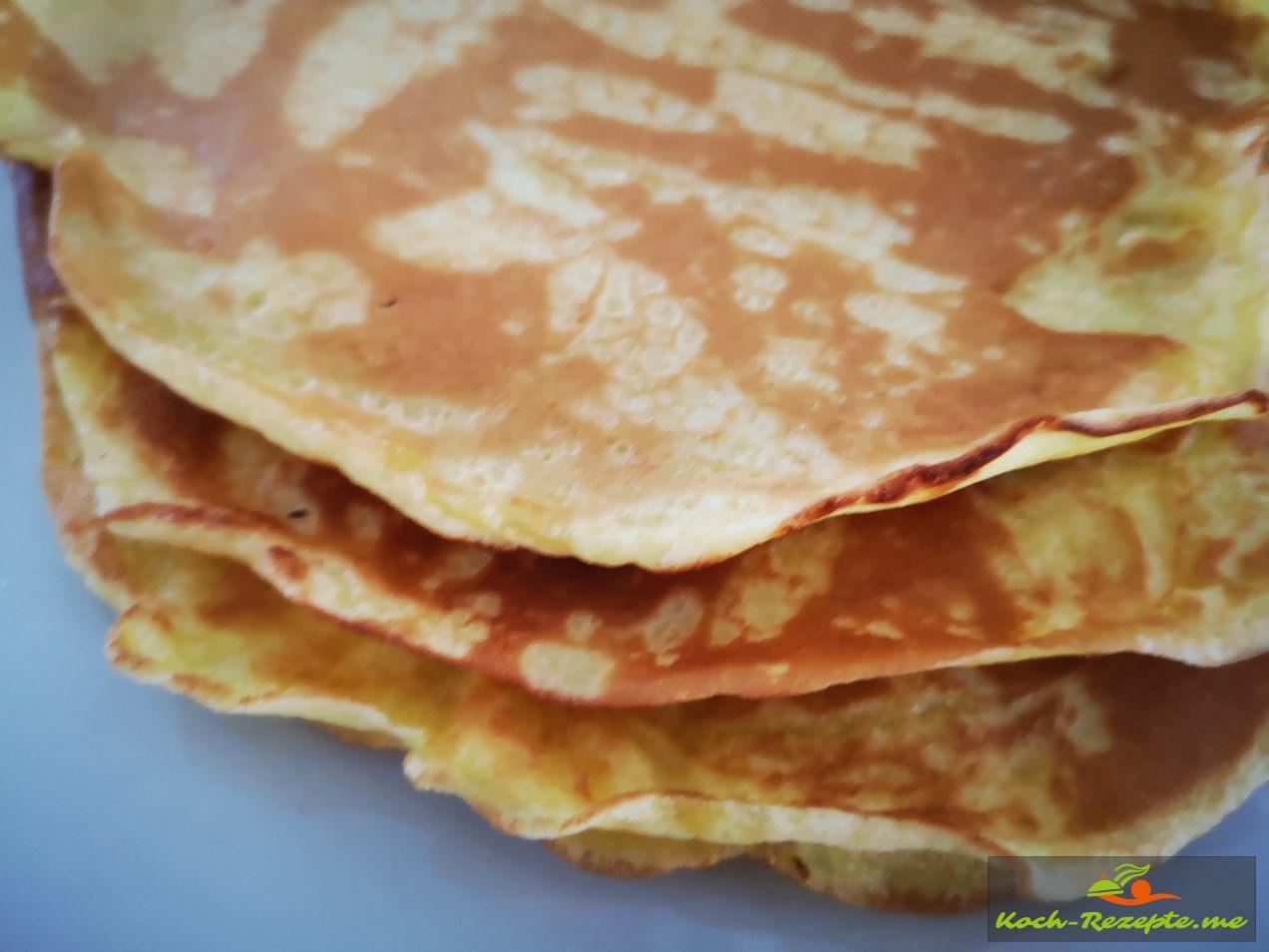 Fertige eierpfannkuchen ,lecker schnell zubereitet
