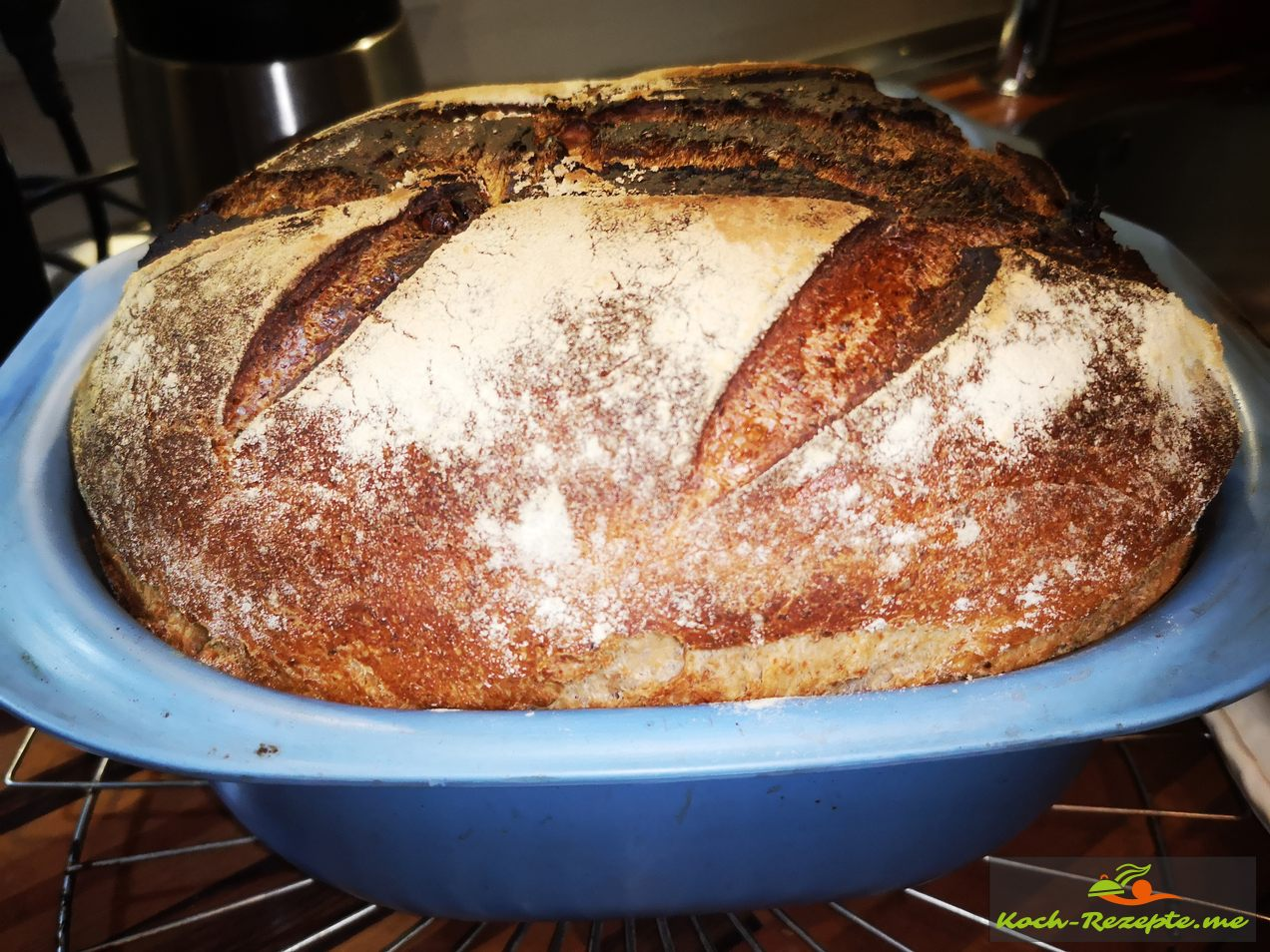 Das fertige Brot nach 65 Minuten