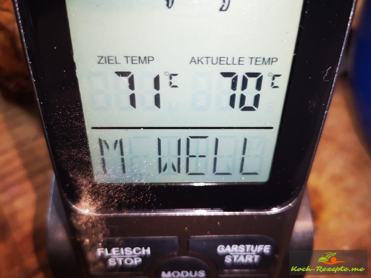 Öl auf 70-75 Grad erwärmen